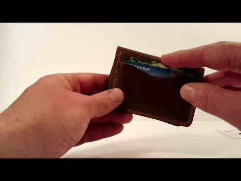 Popov Leather 5-card minimalist EDC wallet