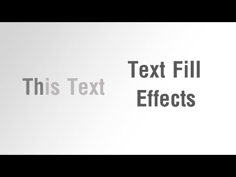 Arabic Tutorials - Create Text Fill Effects With Border On Hover