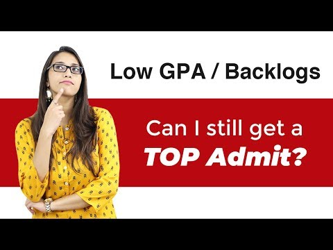 Masters in Top Universities despite Low GPA & Backlogs!