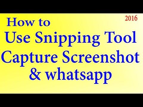 विंडोज Snipping Tool से स्क्रीन शॉट केसे ले | how to Use snipping to capture screenshots & Watsapp