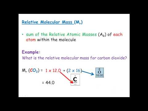 Relative Molecular Mass &  Relative Formula Mass