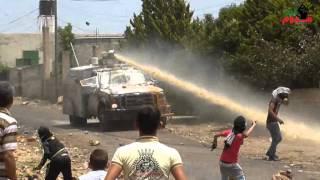 #x202b;شاهد..ماذا فعل شباب كفرقدوم بسيارة المياه العادمة خلال المواجهات 22-5-2015#x202c;lrm;
