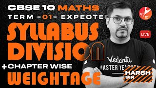 CBSE Class 10 Maths [Term 1] Expected Syllabus Division + Chapter Wise Weightage 🧐   Vedantu 9 & 10