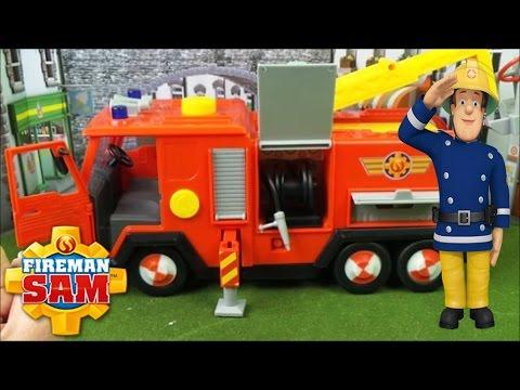 Feuerwehrmann Fireman Sam Feuerwehrauto DELUXE JUPITER Fire Engine + Peppa Pig and Minion