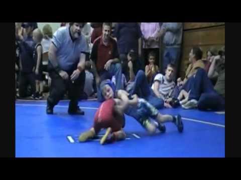 8 year old wrestler kid stevo poulin kicks butt on the wrestling mat