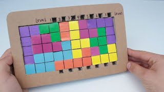 How To Make Tetris from Cardboard | logic Games for Kids | KIds DIY