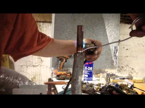 How to solder 1/2 copper pipe into lead pipe