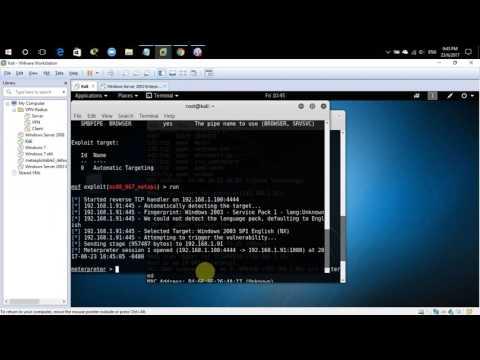 Exploit window server 2003 use MS08_067 | Change password Administrator