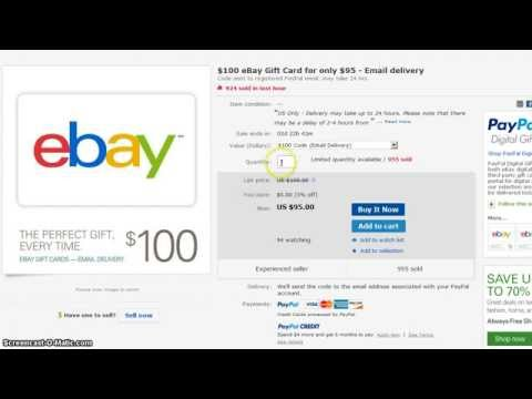 $100 ebay giftcard for $95 *email* delivery