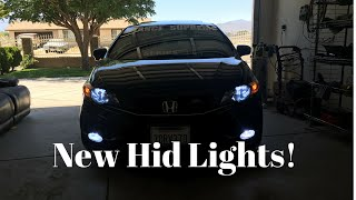 2014 Civic Si Hid Lights Installed
