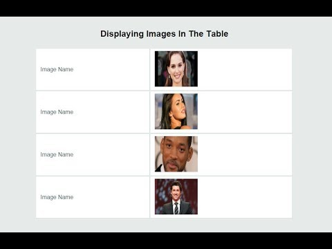 Displaying images in the table