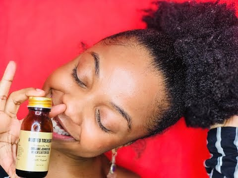 Thicker Natural Hair And Full Edges With Jamaican Black Castor Oil