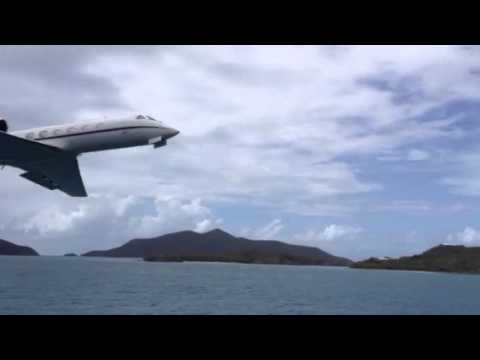 G4 fly by Beef Island BVI