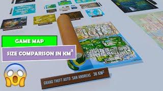 3D Comparison: Game Map Size Comparison In Km/square   VIDEO GAME Map Size Comparison
