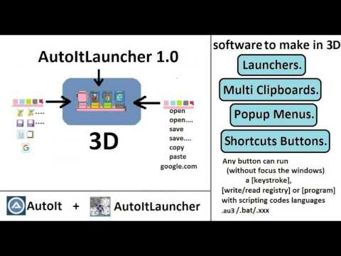 Autoitlauncher Software - Create a Keyboard Shortcuts Taskbar Launcher
