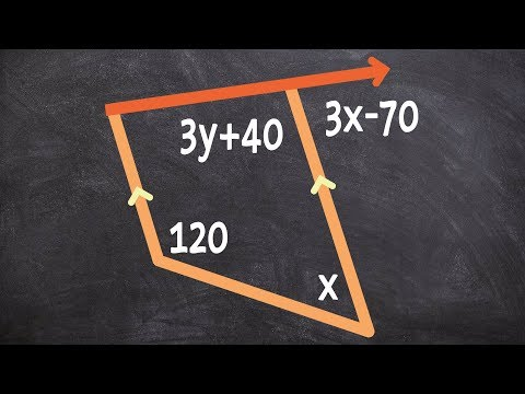 Finding the value of x using a trapezoid alternate interior angles and corresponding