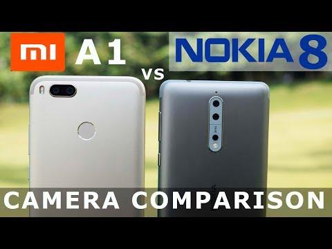 Xiaomi MiA1 vs Nokia 8   - Camera Comparison# Depth#Slow motion#Video test