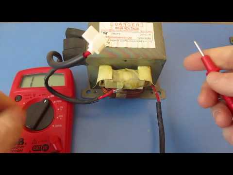 How to Test Microwave Oven Transformer High Voltage HV with a multimeter