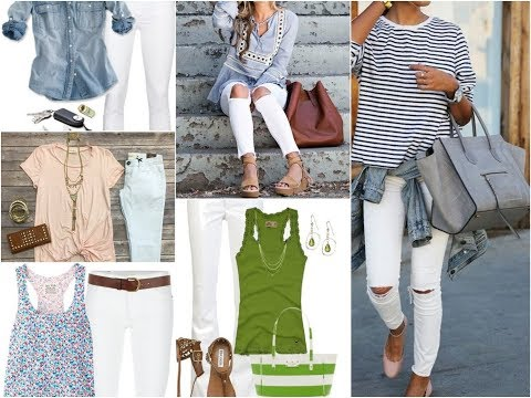 How to Wear White Jeans in Summer 2018