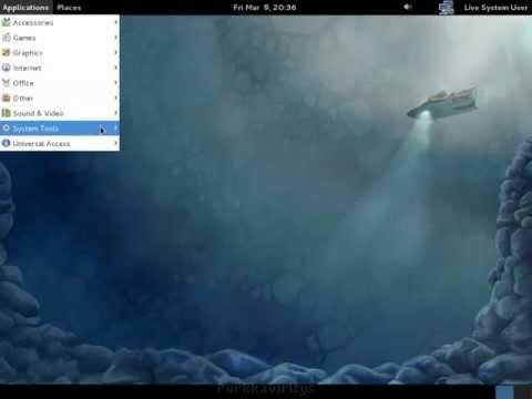 Fedora 16 (Verne) live CD Desktop install