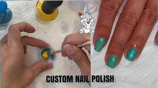 Making custom nail polish/ behind the scenes