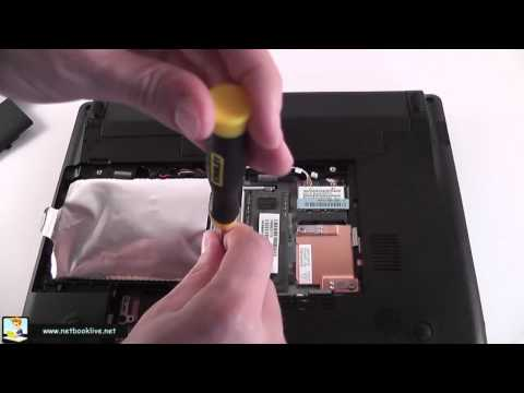 How to upgrade memory and HDD on a Toshiba NB500