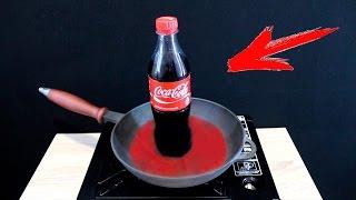 EXPERIMENT What Happen if You Drop COCA-COLA into HOT PAN