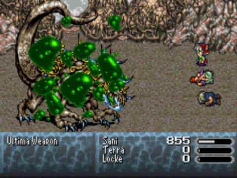 Final Fantasy VI Advance Relm Solo vs Ultima Weapon