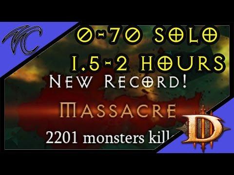 Diablo 3 / Massacre Bonus Level 0-70 in 2 hours  ( gameplay / commentary )