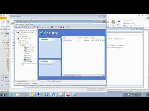 How to Use Group Policy Preferences to Configure Outlook Settings