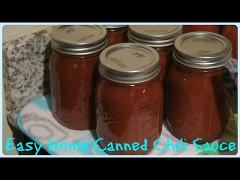 HOME CANNED CHILI SAUCE