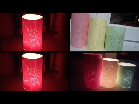 Beautiful DIY candle covers for diwali-how to make DIY candle covers for diwali-Diwali craft