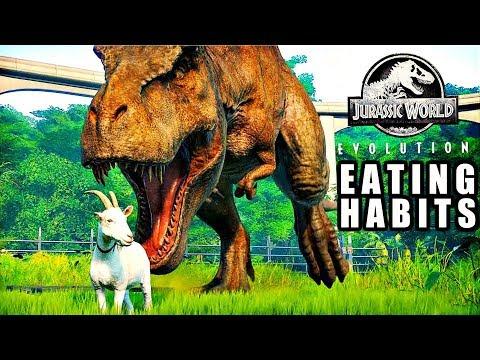 DINOSAUR EATING HABITS! (Jurassic World Evolution)