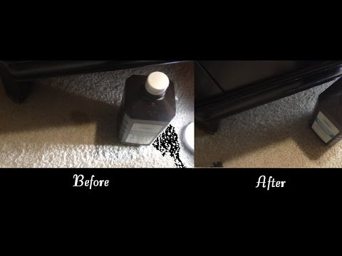 Removing Carpet Cat Vomit Stains with Hydrogen Peroxide