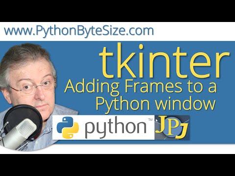 Adding Frames to a Python tkinter window
