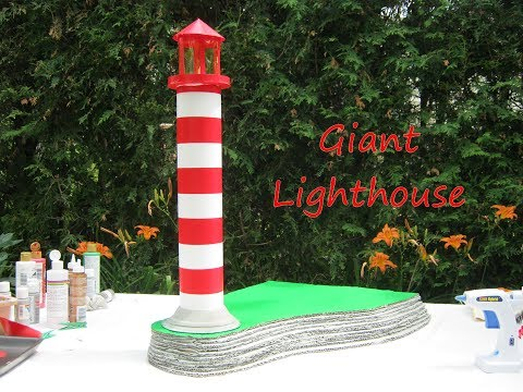Make a big lighthouse from cardboard