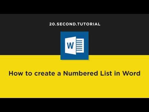Create Numbered Lists in Word | Microsoft Word Tutorial #17