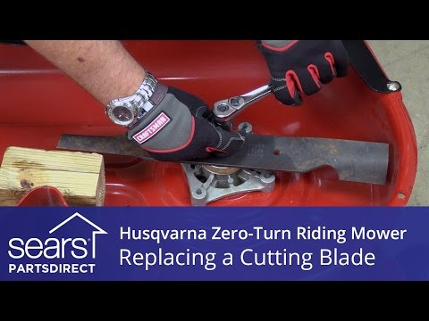 How to Replace a Husqvarna Zero-Turn Riding Mower Cutting Blade