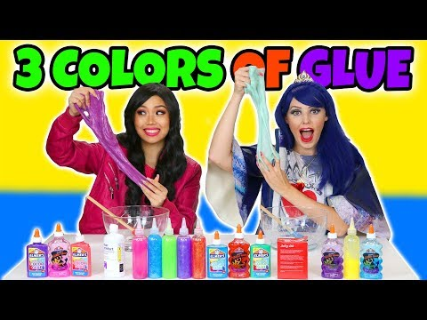 3 COLORS OF GLUE SLIME CHALLENGE (Totally TV)