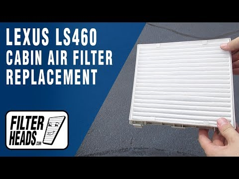 How to Replace Cabin Air Filter 2011 Lexus LS460