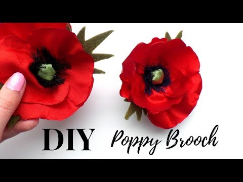 DIY Poppy Clips Flower Brooch Satin Hair Pin Mother's Day Wedding Gift | by Fluffy Hedgehog