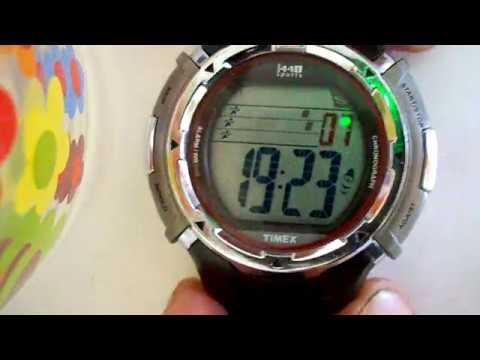 Timex 1440 Marathon 12/24 hr time set