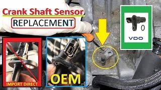 BMW Removing Intake Manifold, Replacing Crankshaft Sensor E90, E91