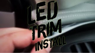 LED Trim Install How To Interior LED Installation Dashboard Lights