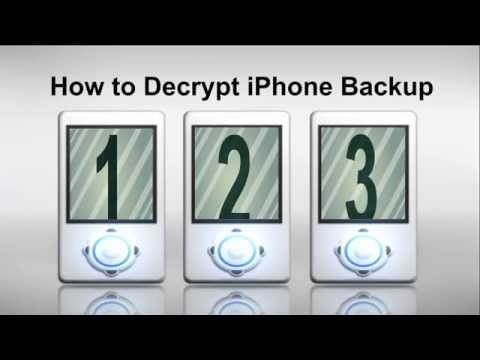 How to Decrypt iPhone Backup after Password Forgot