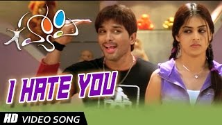 I Hate You Full HD Video Song || Happy Movie || Allu Arjun, Genelia