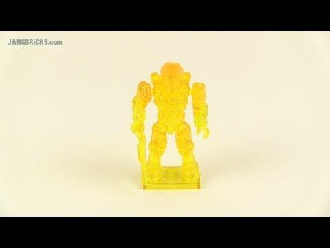 Mega Bloks Series 7 active camo transparent yellow Spartan figure