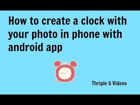 How to create a clock with your photo in phone telugu easily