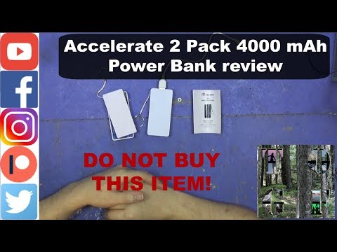 Accelerate 2 Pack 4000 mAh Power Bank review DO NOT BUY THIS ITEM!