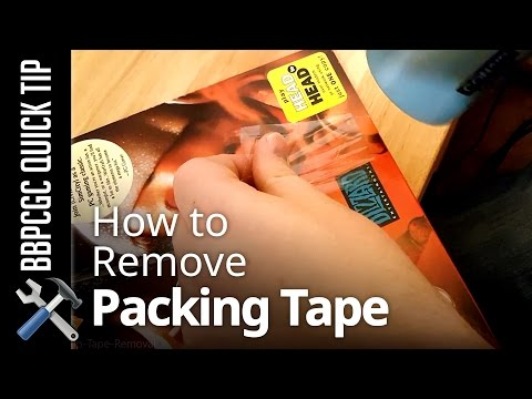 Removing Packing Tape from Game Boxes - BBPCGC Quick Tip